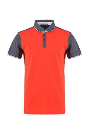 Trussardi ανδρική πόλο μπλούζα με contrast λεπτομερειες