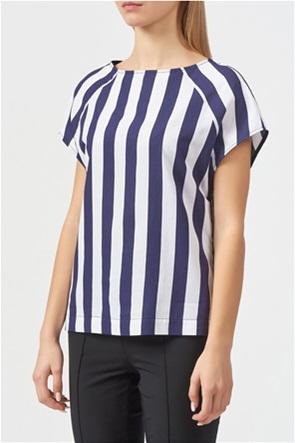 Trussardi Jeans γυναικεία κοντομάνικη μπλούζα με ριγέ σχέδιο