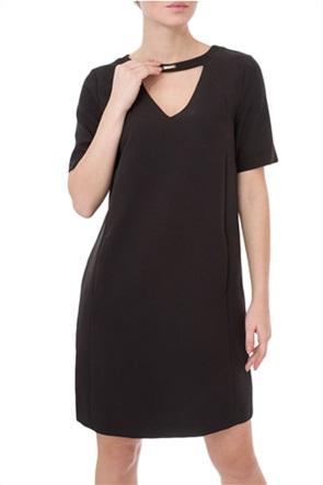 Trussardi γυναικείο mini φόρεμα με cut-out λεπτομέρεια