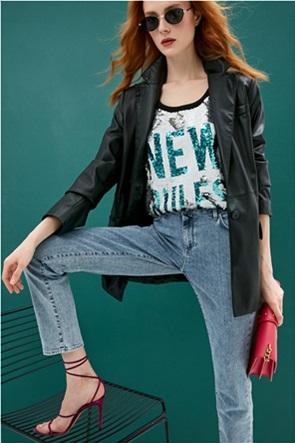 Trussardi γυναικείο τζην παντελόνι πεντάτσεπο Slim Fit