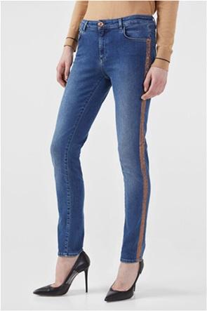 Trussardi γυναικείο τζην παντελόνι με contrast ρίγα στο πλάι Skinny Fit