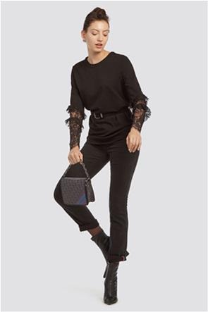Trussardi Jeans γυναικείο παντελόνι Garment dyed classic fit