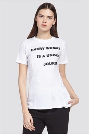 Trussardi Jeans γυναικείο t-shirt με letter print