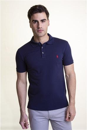 "Polo Ralph Lauren ανδρική πόλο μπλούζα πικέ με κεντημένο logo ""Slim Fit Stretch Mesh"""