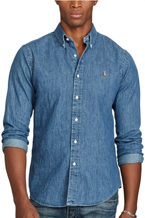Polo Ralph Lauren ανδρικό πουκάμισο Slim Fit Denim Sport Shirt