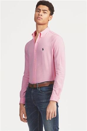 "Polo Ralph Lauren ανδρικό πουκάμισο με κεντημένο λογότυπο ""Featherweight Mesh"""