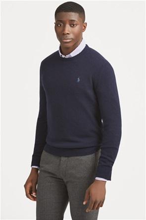 Polo Ralph Lauren ανδρική πλεκτή μάλλινη μπλούζα με στρογγυλή λαιμόκοψη