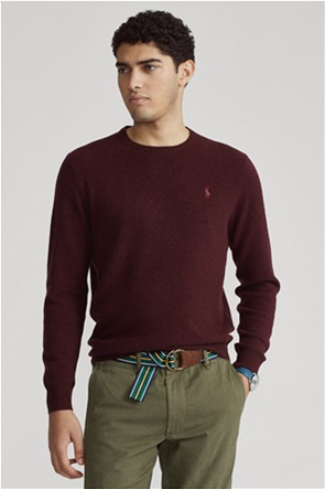 Polo Ralph Lauren ανδρικό μάλλινο πουλόβερ με κεντημένο logo
