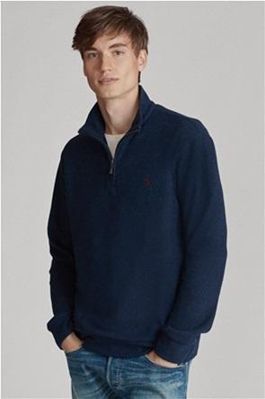 Polo Ralph Lauren ανδρική πλεκτή μπλούζα με φερμουάρ 1/2