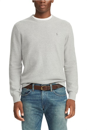 Polo Ralph Lauren ανδρικό μονόχρωμο πουλόβερ με κεντημένο logo