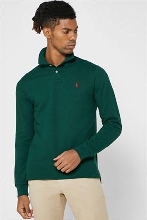 """Polo Ralph Lauren ανδρική πόλο μπλούζα με κεντημένο logo """"Custom Mesh"""""""