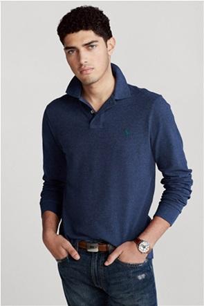"""Polo Ralph Lauren ανδρική πόλο μπλούζα με κεντημένο logo """"Custom Slim Fit Mesh"""""""
