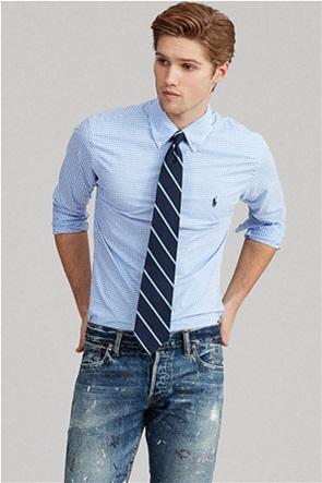 Polo Ralph Lauren ανδρικό πουκάμισο με καρό σχέδιο και κεντημένο λογότυπο ''Slim Fit Checked''
