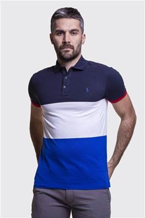 Polo Ralph Lauren ανδρική πόλο μπλούζα colourblocked