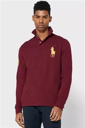 "Polo Ralph Lauren ανδρική μπλούζα πόλο με κεντημένο λογότυπο ""Custom Slim Fit"""