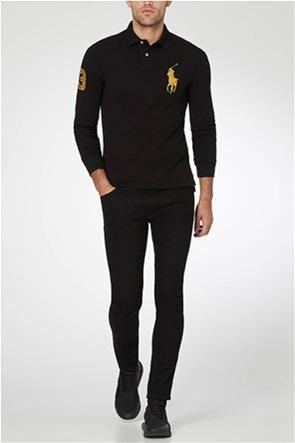 Polo Ralph Lauren ανδρική μπλούζα μακρυμάνικη πόλο με κεντημένο λογότυπο στο στήθος