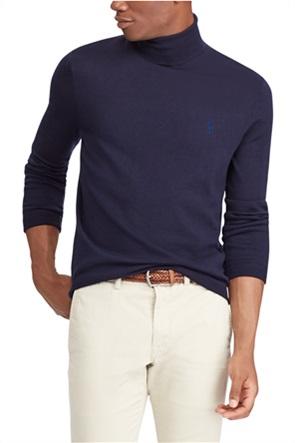 Polo Ralph Lauren ανδρική πλεκτή μπλούζα ζιβάγκο με κεντημένο logo