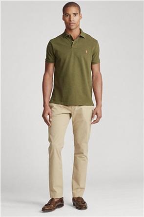 Polo Ralph Lauren ανδρική πόλο μπλούζα με κεντημένο λογότυπο ''Slim Fit''