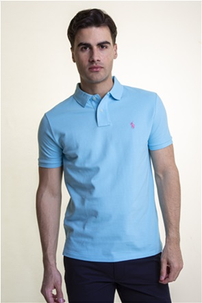 "Polo Ralph Lauren ανδρική polo μπλούζα με κεντημένο logo ""The Iconic Mesh"""