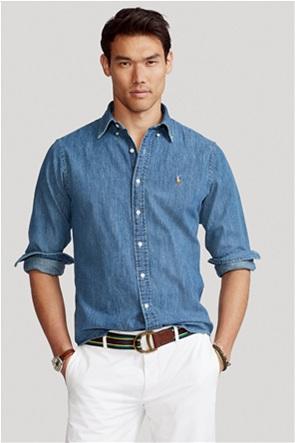 "Polo Ralph Lauren ανδρικό denim πουκάμισο με κεντημένο logo ""Custom Fit"""