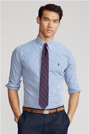 "Polo Ralph Lauren ανδρικό ριγέ πουκάμισο με κεντημένο logo ""Custom Fit Striped"""