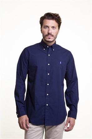 "Polo Ralph Lauren ανδρικό πουκάμισο μακρυμάνικο με κεντημένο λογότυπο ""Custom Fit Poplin"""