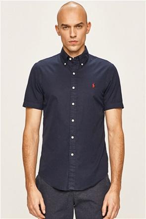 Polo Ralph Lauren ανδρικό πουκάμισο κοντομάνικο με κεντημένο logo