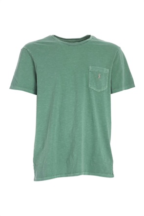 Polo Ralph Lauren ανδρικό T-shirt με απλικέ τσέπη και κεντημένο λογότυπο ''Custom Slim Fit''