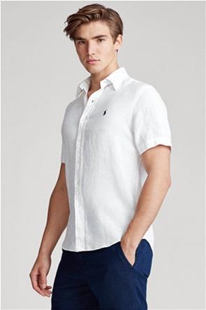 Polo Ralph Lauren ανδρικό πουκάμισο λινό με κεντημένο λογότυπο ''Slim Fit''