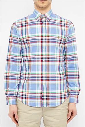 Polo Ralph Lauren ανδρικό καρό πουκάμισο με κεντημένο logo