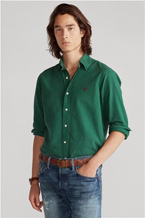 "Polo Ralph Lauren ανδρικό πουκάμισο με κεντημένο λογότυπο ""Custom Fit Oxford"""
