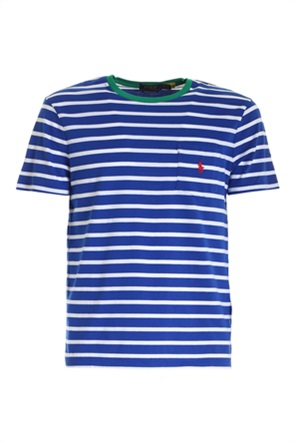 Polo Ralph Lauren ανδρικό T-shirt με ριγέ σχέδιο και απλικέ τσέπη στο στήθος