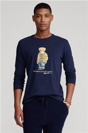 Polo Ralph Lauren ανδρική μπλούζα με graphic print ''Custom Slim Fit Polo Bear''