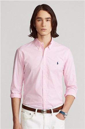 Polo Ralph Lauren ανδρικό πουκάμισο με καρό σχέδιο και κεντημένο λογότυπο