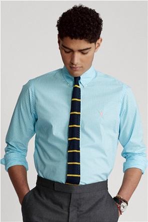 Polo Ralph Lauren ανδρικό πουκάμισο με καρό σχέδιο και κεντημένο λογότυπο ''Custom Fit Gingham''