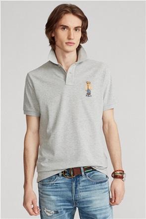 Polo Ralph Lauren ανδρική πόλο μπλούζα με κεντημένο σχέδιο ''Custom Slim Fit Polo Bear''