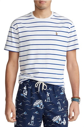 Polo Ralph Lauren ανδρικό T-shirt με ριγέ σχέδιο και κεντημένο λογότυπο
