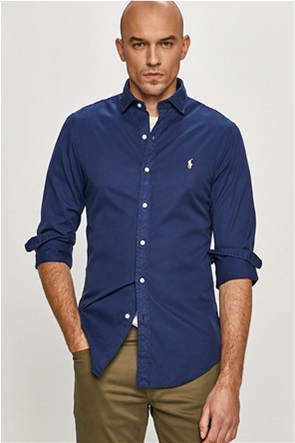 Polo Ralph Lauren ανδρικό πουκάμισο με κεντημένο λογότυπο ''Slim Fit''