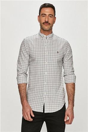 Polo Ralph Lauren ανδρικό πουκάμισο κε καρό σχέδιο και κεντημένο λογότυπο