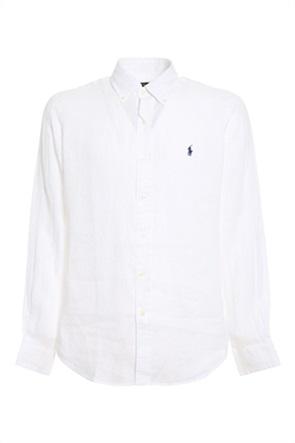 Polo Ralph Lauren ανδρικό πουκάμισο λινό με κεντημένο λογότυπο ''Custom Fit''