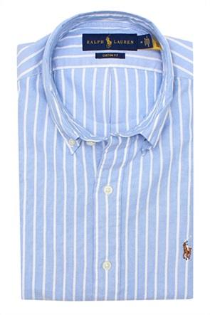 Polo Ralph Lauren ανδρικό πουκάμισο με ριγέ σχέδιο και κεντημένο λογότυπο ''Custom Fit''