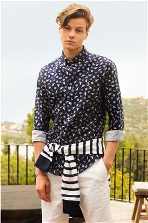 Polo Ralph Lauren ανδρικό πουκάμισο με all-over print και κεντημένο λογότυπο ''Slim Fit''
