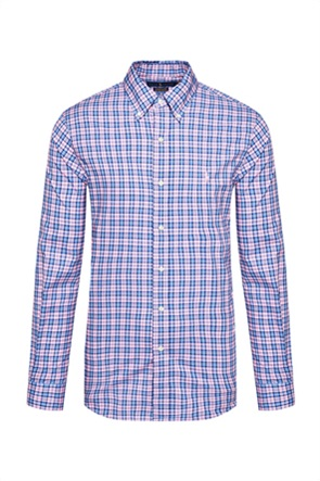 Polo Ralph Lauren ανδρικό πουκάμισο με καρό σχέδιο και κεντημένο λογότυπο ''Custom Fit''