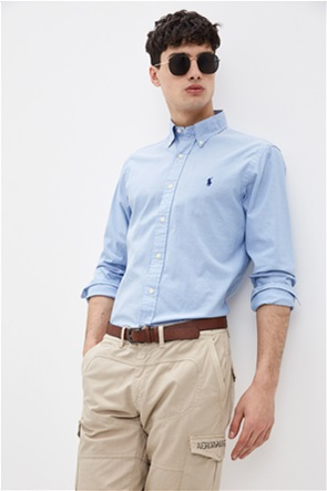 "Polo Ralph Lauren ανδρικό πουκάμισο με κεντημένο λογότυπο ""Custom Slim Fit"""