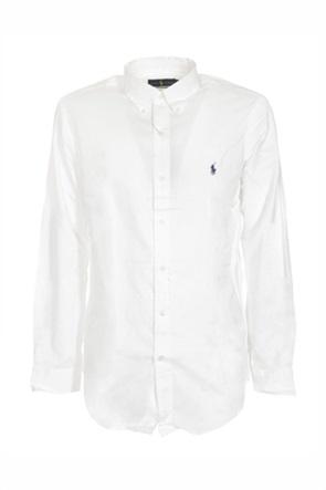 "Polo Ralph Lauren ανδρικό πουκάμισο με κεντημένο logo ""Slim Fit"""