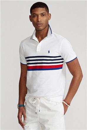 Polo Ralph Lauren ανδρική πόλο μπλούζα με ριγέ σχέδιο και κεντημένο λογότυπο ''Slim Fit''