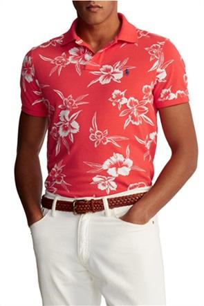 "Polo Ralph Lauren ανδρική πόλο μπλούζα με floral print ""Pacific Ibiskus"""