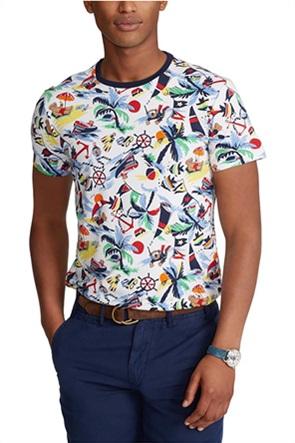 Polo Ralph Lauren ανδρικό T-shirt με all-over print ''Slim Fit''