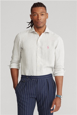 "Polo Ralph Lauren ανδρικό λινό πουκάμισο ""Slim Fit"""