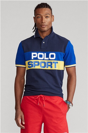 "Polo Ralph Lauren ανδρική πόλο μπλούζα colourblocked ""Classic Fit Polo Sport Mesh"""